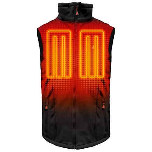 ActionHeat 5V Men's Heated Vest - Softshell Battery Heated Clothing - USB Powerbank Powered