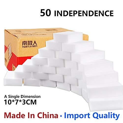 Preisvergleich Produktbild 50 Stück Reinigungsschwamm,  Radierschwamm,  Schmutzradierer,  Wunderschwamm je 10x7x3 cm WEISS