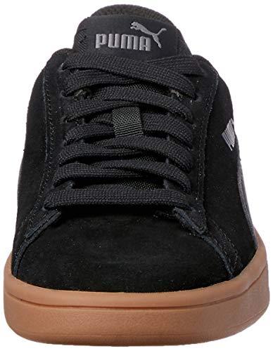 PUMA Smash v2, Zapatillas Unisex Adulto, Negro Black Black, 41 EU