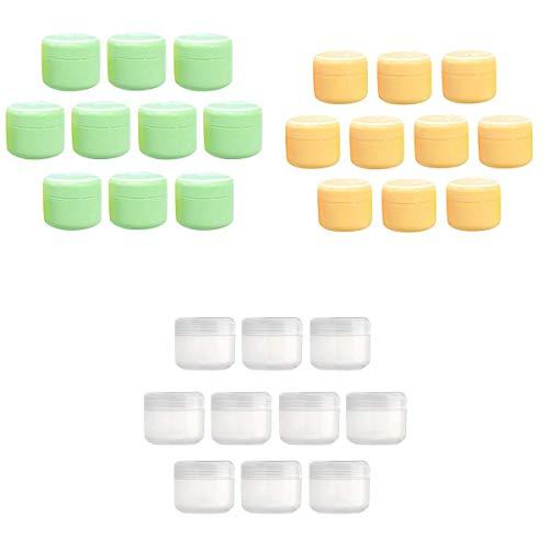 Generic 30x Pots Cosmétiques Vide en Plastique Rechargeable Contenants Cosmétiques avec Couvercle 20/50/100g
