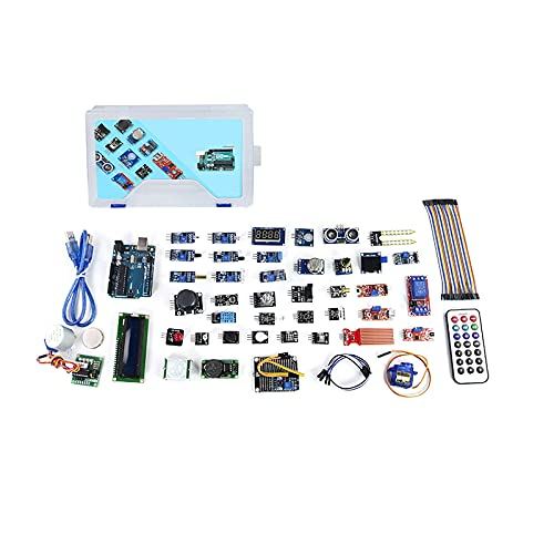 No application 47 Stück/Set IOT Kit Tragbares Relaisnetzteilmodul Schaltmodul LED Einsteigerfreundlich Professionell Bequem Sensoren Modul Starter Kit mit Kunststoffbox für Arduino