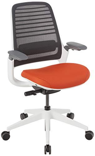 Steelcase Series 1 Office Chair, Carpet Casters, Graphite/Pumpkin