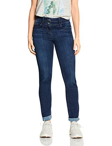 Cecil Damen 372910 Toronto Jeans, Dark Blue wash, W27/L30