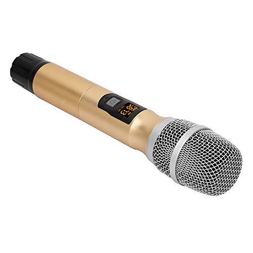 Juguete portátil para karaoke con función de ampliación del receptor de micrófono inalámbrico para cantar karaoke, escenario, boda, idiomas