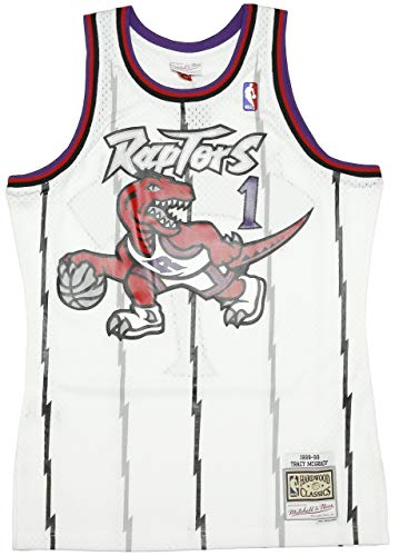 Mitchell & Ness Toronto Raptors Tracy McGrady 1 Canotta White