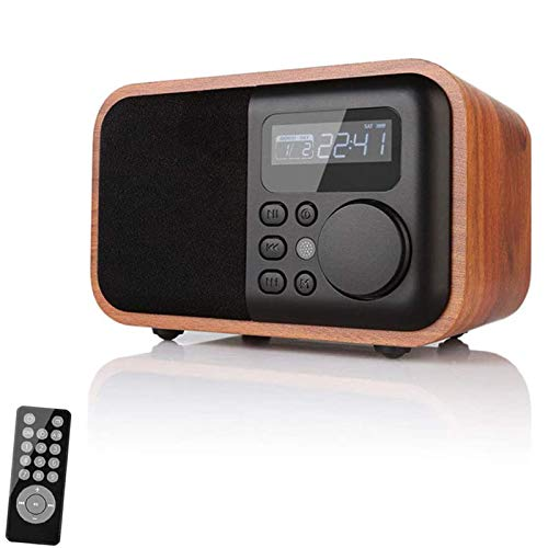 HVW Radio Retro FM, Playr Multifuncional de Bluetooth portátil, Tarjeta TF AUX U Dish Card USB Card CONPOSTABLE MP3 3.5mm Jack de Audio con Pantalla LCD Pantalla,B