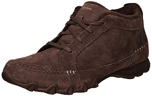 Skechers Relaxed Fit Bikers Lineage Womens Mid Top Chukka Oxfords Chocolate 8.5 W