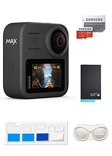 【GoPro公式限定】 GoPro MAX + 予備バッテリー + 認定SDカード32GB + GoPro公式限定非売品 メガホルダー(...