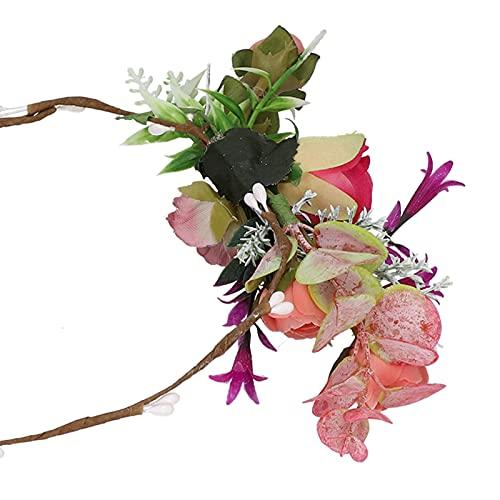 Corona floreale, design elegante ghirlanda corona poliestere sposa fascia per capelli per matrimoni feste festival spiagge fotografia per matrimonio sposa