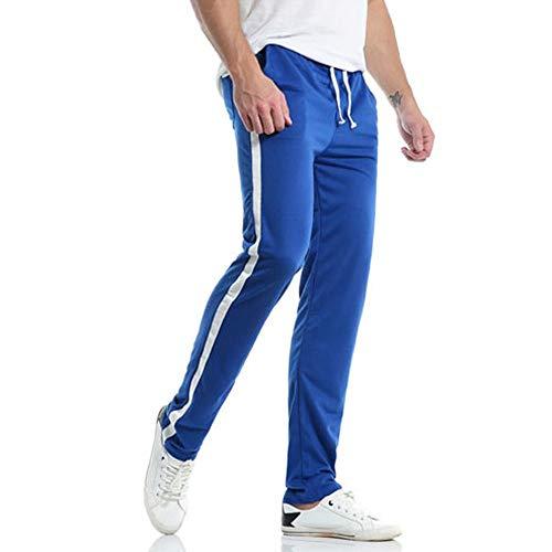 FIRMON-Jeans Herren 50er Jahre Hose Casual Slim Sport Lange Hose Outdoor Streifen Hose Baggy Hose Jogging Trainingsanzug Gr. 34-37, Blau Herren Hose