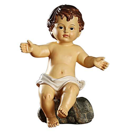 YJKJ Figurilla catlica de 11', decoracin Religiosa, decoracin de esculturas, Regalos de Manualidades con el beb Jess, Recuerdos, Regalos bblicos, Estatua Florentina para nios