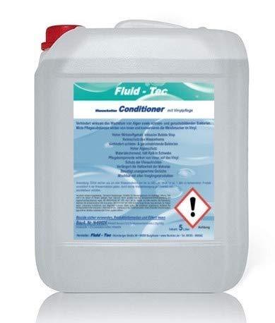 Fluid-Tec 1 x 5 Liter Kanister Wasserbett Konditionierer Conditioner Wasserbettpflege Wasserbett Zubehör für alle Wasserbetten + Auslaufhahn + 1 x 250ml Leere Flasche - 5,80€/Ltr.