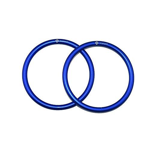 Topind, anelli in alluminio di grandi dimensioni, da 6,3 cm, per fasce e marsupi porta bebè (2 pezzi)