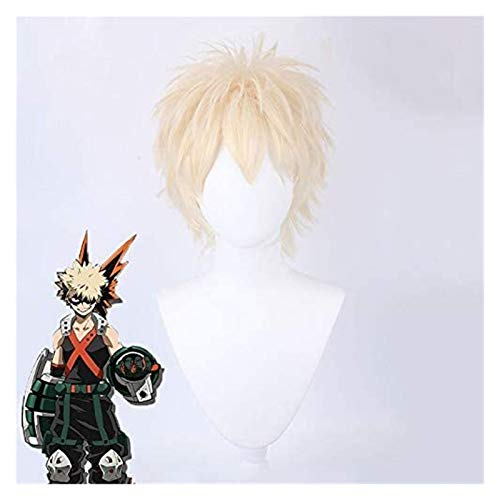 GIAOYAO Anime mi héroe académico Baku no héroe bakugou Katsuki bakugo Cosplay Peluca Corto sintético Peluca Fiesta Cosplay Traje Pelucas