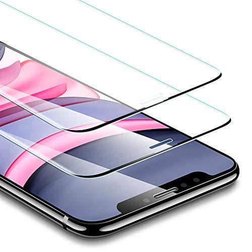 ESR Protector de Pantalla Cristal Templado para iPhone 11/iPhone XR. Sin Bisel Lateral. Marco de Instalación Fácil. 3 Veces más Fuerte. Protector de Pantalla para iPhone 11/ iPhone XR. 2 Unidades.