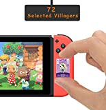 ACNH NFC Tag Mini Game Rare Character Villager Cards 72pcs for Switch/Switch Lite/Wii U with Crystal Storage Box(1.25x0.85x0.05 inches)