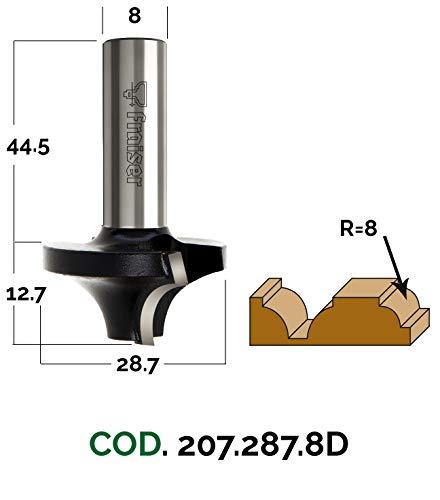 Eintauch-Viertelstabfräser - D 28.7 / I 12.7 / S 8 / R 8 - Holzfräser für Oberfräse   Fraiser