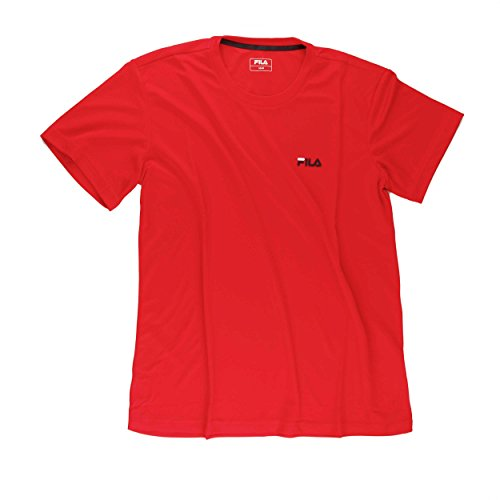 Fila Herren T-Shirt Logo Men Oberbekleidung, rot, M