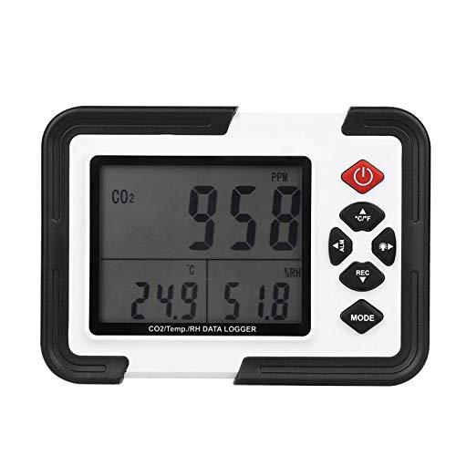 YOGANHJAT Air Quality Meter Carbon Dioxide Detector with Battery Portable CO2 Meter Luftqualitätsanalysator Monitor Umschaltbarer für Zuhause Büro Auto Außen Innen