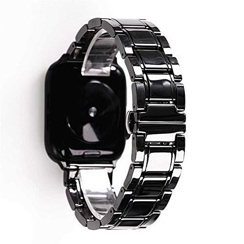 LANGY Cinturino in Ceramica per iwatch 1 2 3 4 5 44Mm 40Mm 38Mm 42Mm Cinturino da Polso in Ceramica e Acciaio Inossidabile
