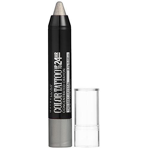 Maybelline New York Eyestudio ColorTattoo Concentrated Crayon,740 Grey Crystal, 0.08 oz.