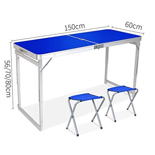 Lw outdoor Table de Pique-Nique Tables de Camping Pliables Table légère et portative pour l'activité de Plein air sur la Plage avec pêche en Camping (Couleur : B)