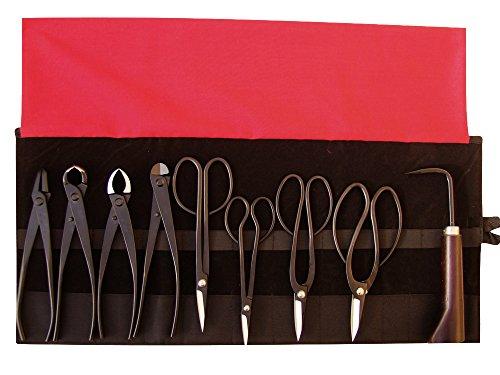 Bonsai-Werkzeugset 9-Teiliges Set Inkl. Roll-Werkzeugtasche