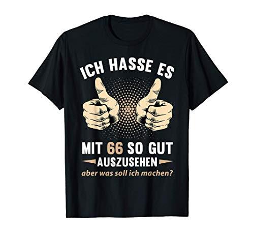 66. Geburtstag Damen Herren 66 Jahre Mann Frau 1955 Geschenk T-Shirt