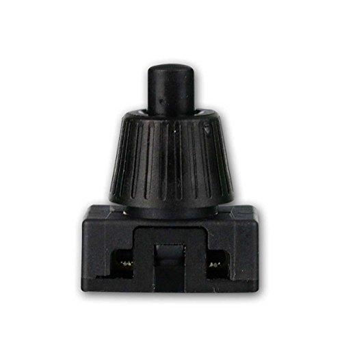 Druckschalter, 1-polig, EIN/AUS 250V/2A schwarz