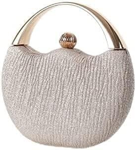 Women's Evening Handbags Women's Retro Fashion arc Purse Handbag Banquet Bag Dinner Bag Wedding Bag Party Bag Beaded Bag (Color : Gold)