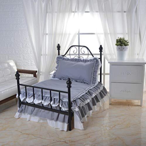 Hondenhok en Cathousepet-huis Luxe huisdierbed Art hondenbed met bed en beddengoed 75X50X75Cm