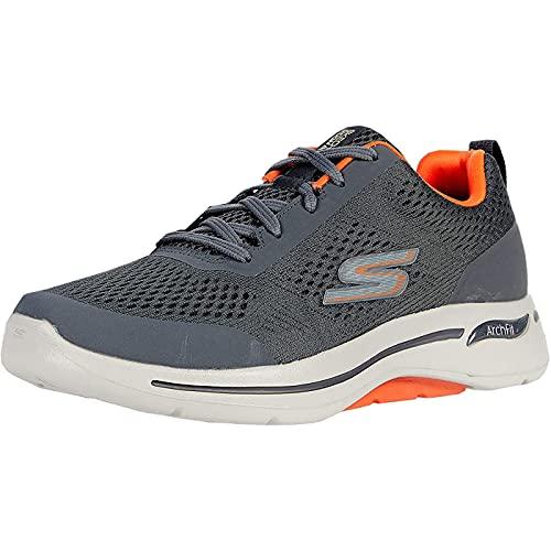 Skechers Men's GO Walk Arch FIT Idyllic Sneaker, Charcoal, 43.5 EU