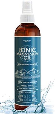 Elemental Magnesium Oil Spray 1 Year Supply USP Grade 100 Pure Ionic Magnesium Chloride Rapid product image