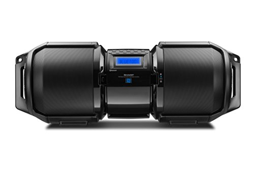 Sharp GX-BT9X Large Portable Bluetooth BoomBox Speaker,Matte Black