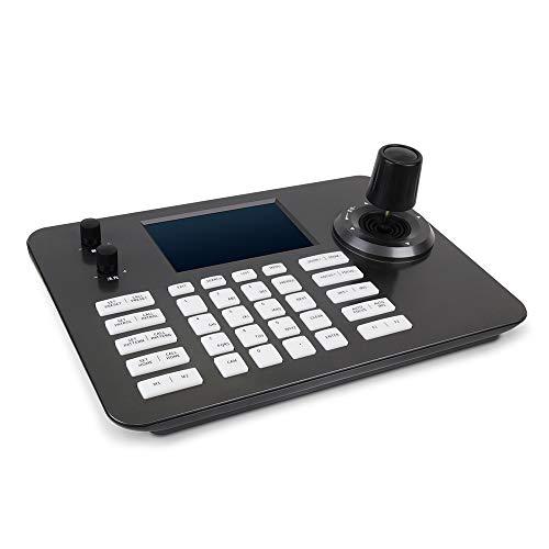 LEFTEK Videokonferenz PTZ Controller Decoding Serie Tastatur mit 5 Zoll LCD Bildschirm 4D Joystick POE Funktion Onvif Protokoll Verbindung
