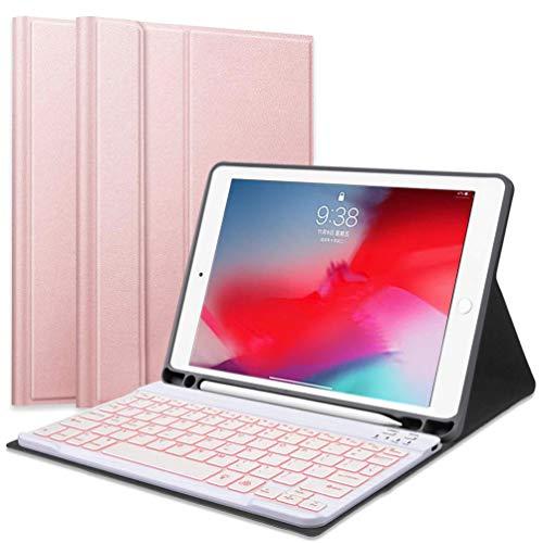 Custodia Tastiera per iPad Mini 7,9, Tastiera Bluetooth con Retroilluminazione e Custodia Protettiva con Supporto per Apple Pencil Compatibile con iPad Mini 5/4/3/2/1