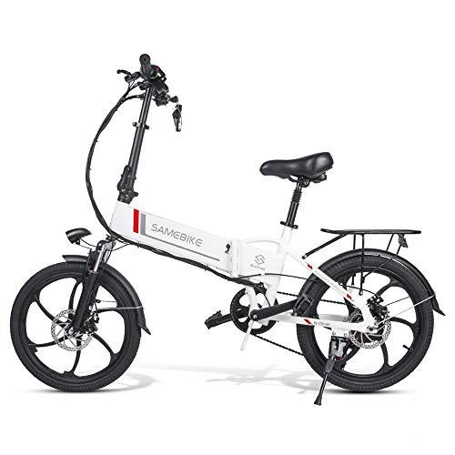 SHIJING Samebike 20LVXD30 portátil Plegable Bicicleta eléctrica de 20 Pulgadas de neumáticos...