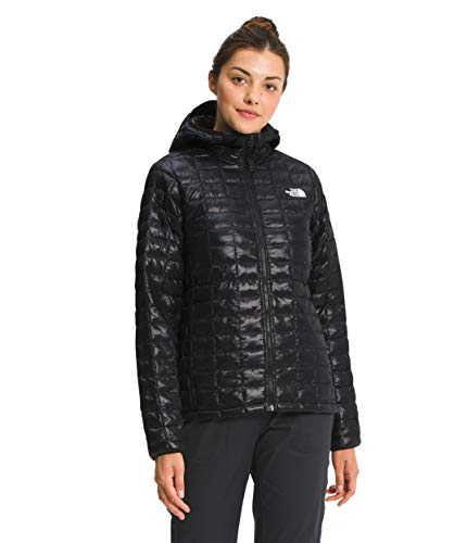 The North Face Women's ThermoBall Eco Hoodie, TNF Black Shine, XS