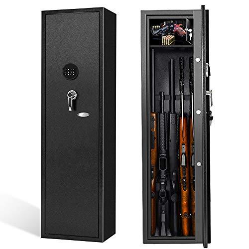 5 Rifle Gun Safe Large Shotgun Rifle Safe Quick...