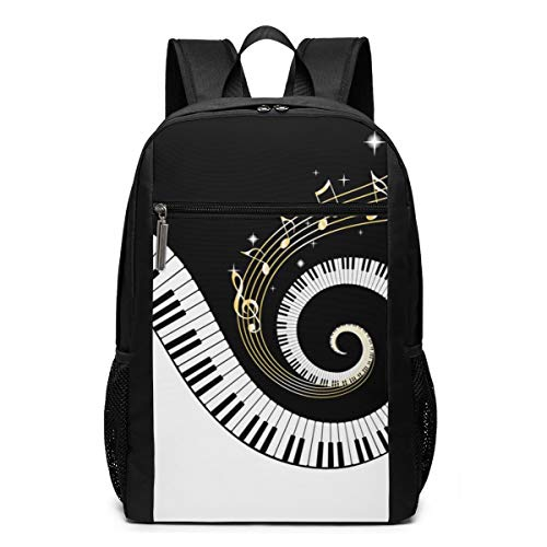 Backpack Bag Piano Keyboard DIY Outdoor Travel Laptop Backpack 17 Inch
