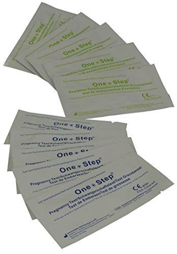 One Step 50 x Ovulation Test Strips 20mIU Fertility Tests + 10 x 10mIU Pregnancy Test Strips