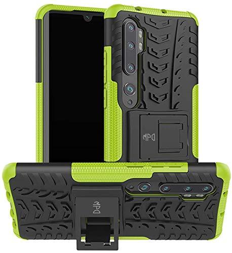Funda para Xiaomi Mi Note 10 / Mi Note 10 Pro con Soporte Protección 360 grados 2 en 1 Carcasa Dura Resistente Antigolpes Heavy Duty Rugged Armor Case (Xiaomi Mi Note 10 / Mi Note 10 Pro, Verde)