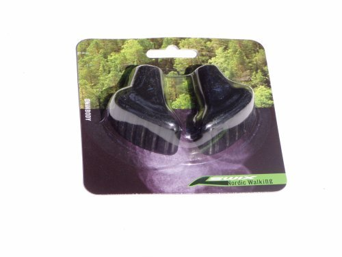 Swix Nordic Walking Rubber Tips - Boot Shaped Nordic Walking Rubber Tips for Pavement, Indoor/Outdoor Tracks, The Mall, Hard Surfaces. $10.95 Per Pair. Not Made in China.