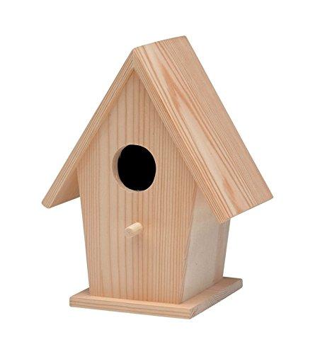 Glorex Vogelhaus, FSC Kiefer, Holz, Natur, 19 x 14,5 x 11 cm