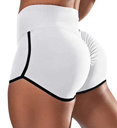 A AGROSTE Women's Butt Lifting Workout Shorts Ruched Booty Yoga Biker Shorts High Waist Scrunch Sports Leggings(UP Graded)