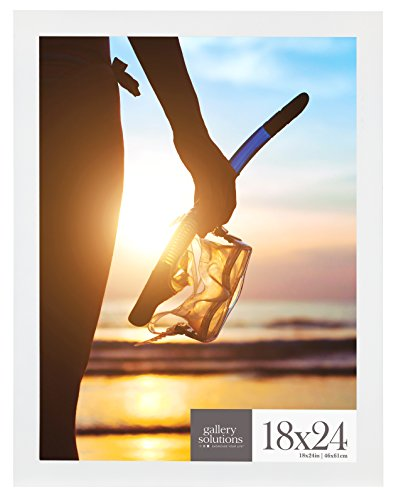 Gallery Solutions 18x24 Large Wall Hanging Picture Poster Frame, 18' x 24', White
