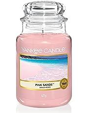 Yankee Candle doftljus i stor burk, rosa sand, bränningstid upp till 150 timmar