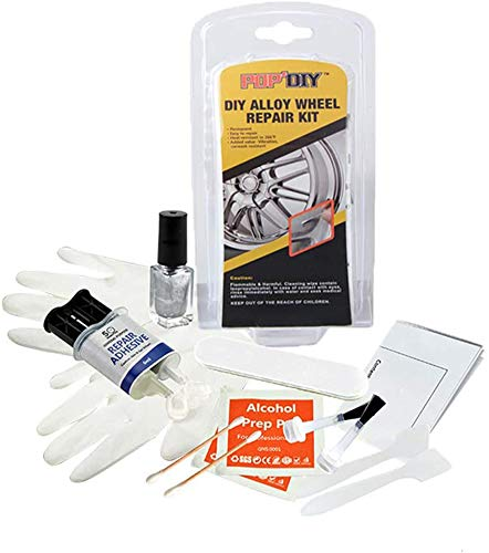 Moonvvin Kit de réparation pour jantes en alliage Couleur argentée