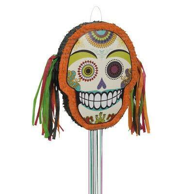 Decoración de fiesta de Halloween con diseño de calavera Día de los Muertos, piñata