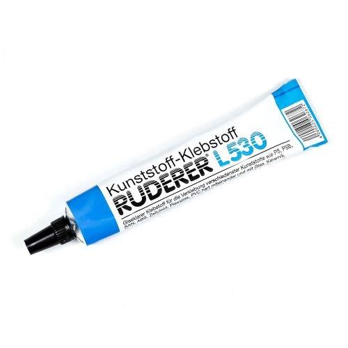 Metall & Kunststoff Kleber Ruderer L530, Tube 20 gr., Buchstaben Befestigung, Schilder Kleber, Befestigung